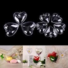 1 Set/2pcs 65/80mm DIY Clear Plastic Bath Mould Acrylic Mold Heart Shape Bath Products Makeup Brush