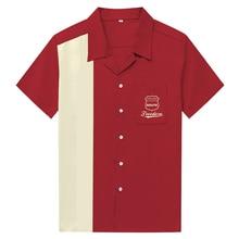 Men Shirt Summer Style Freedom Beach Hawaiian Shirt Men Casual Maroon Short Sleeve Hawaii Shirt Chemise Homme US Size 3XL