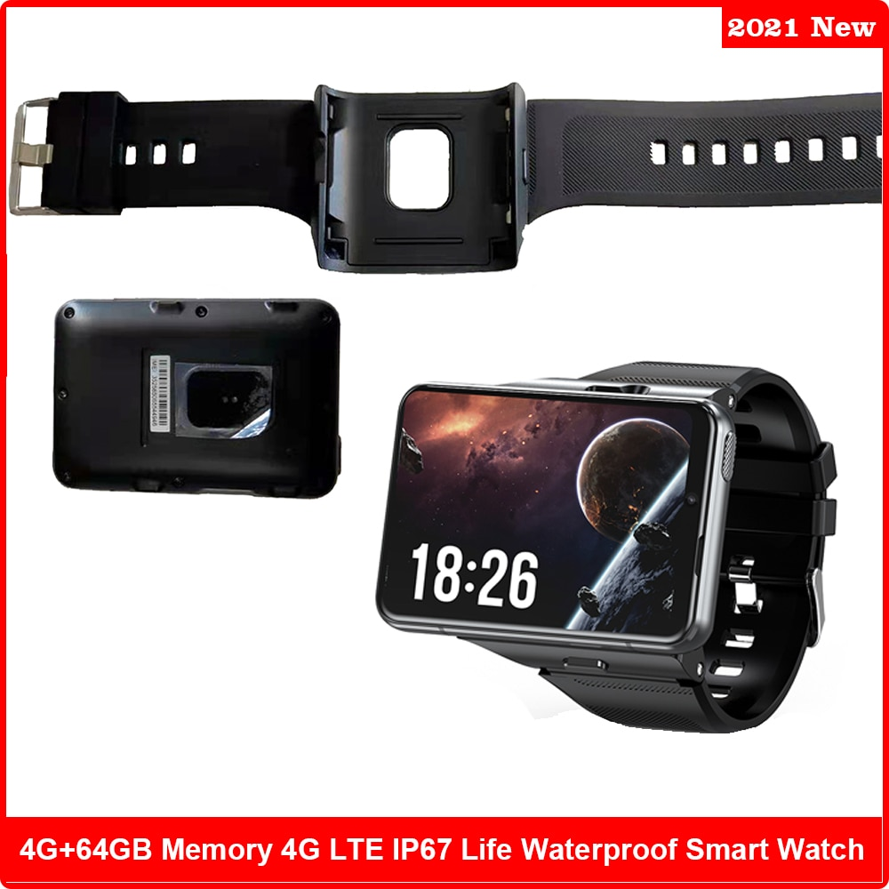 Promo 4G GPS LTE Smart Watch Phone Android 9.0 Biggest HD Screen 4GB 64GB 13MP Camera Detachable Phone Smartwatch Men For Ticwatch Pro