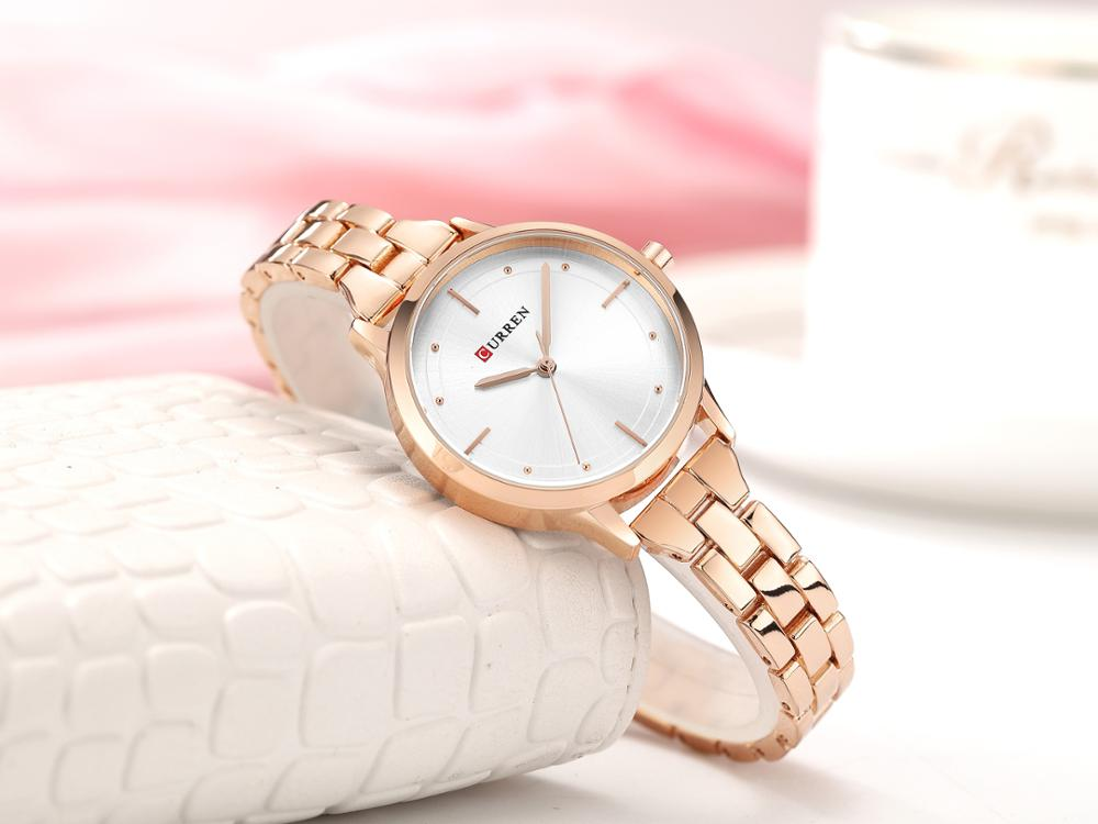CURREN Relogio Feminino Stainless Steel Casual Women Romantic Gift Watches Top Brand Fashion Ladies Wristwatches Montre Femme enlarge