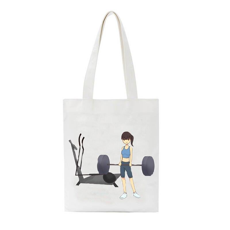 Animé japonés bonito estampado bolsas para mujer 2020 tela bolsas de mano bolsas de la escuela libro bolsas Casual Shopper bolsa