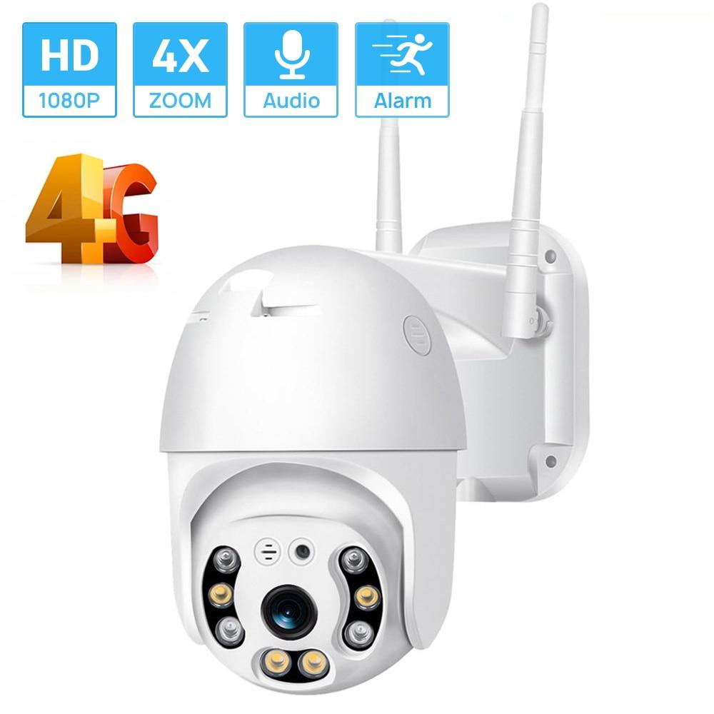 4G سيم بطاقة IP كاميرا HD 1080P Mini PTZ Onvif كاميرا لا سلكية 4xDigital التكبير AI الإنسان كشف مقاوم للماء في الهواء الطلق ICsee