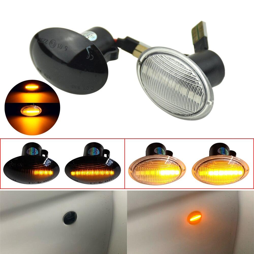 For Fiat 500 Lancia Lybra Ypsilon for Maserati Alfa 4C Flowing Dynamic LED Side Marker Light Flowing Side Repeater Blinker Lamp