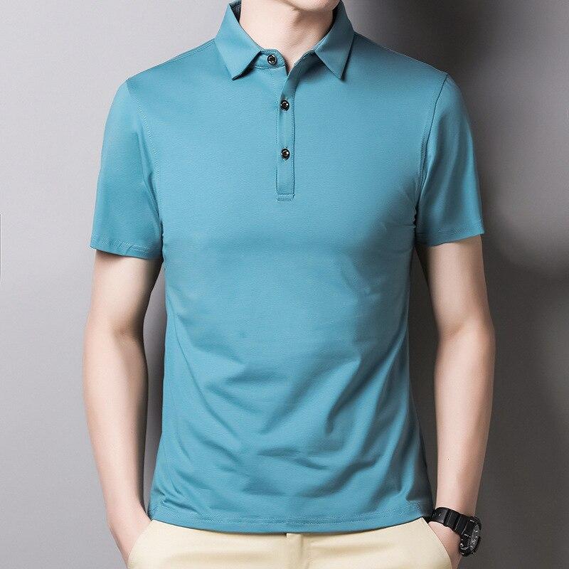 Высокое качество, летняя мода, рубашка поло для мужчин, хлопок, тонкая посадка, мужские рубашки поло для мужчин, топы, роскошная дизайнерская...