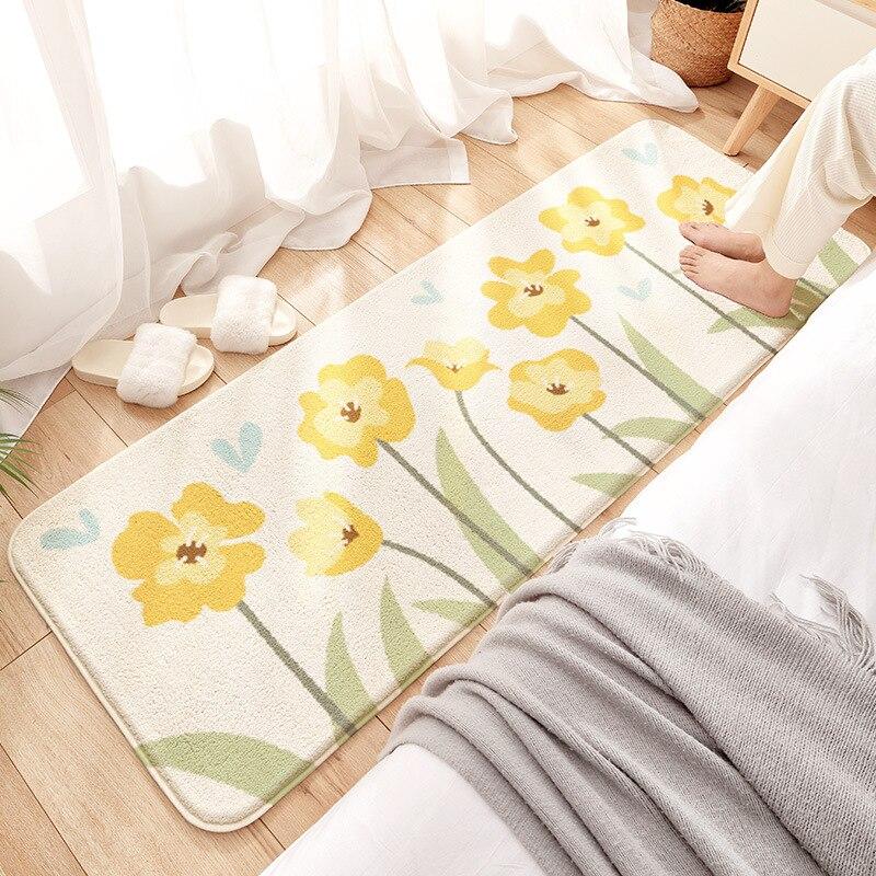 النمط الياباني السرير البساط غرفة نوم صغيرة تاتامي أفخم الكلمة حصيرة السجاد طويلة مريحة وناعمة ديكور المنزل منطقة السجاد