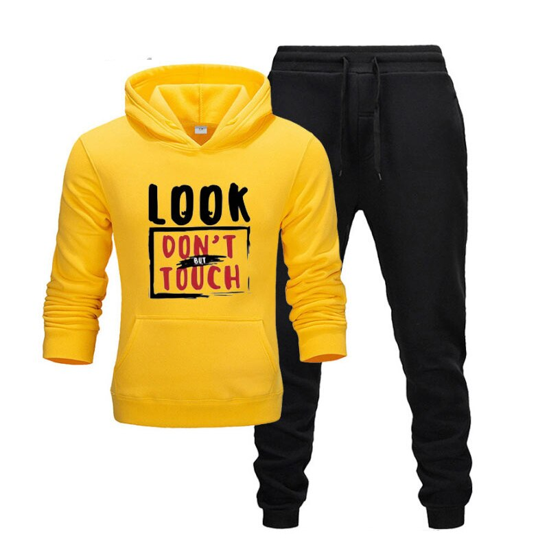 New Hot Two Pieces Set Fashion Hoodies Sportswear Men Tracksuit Hoodie Autumn Brand Clothes Hoodies+Pants Sets