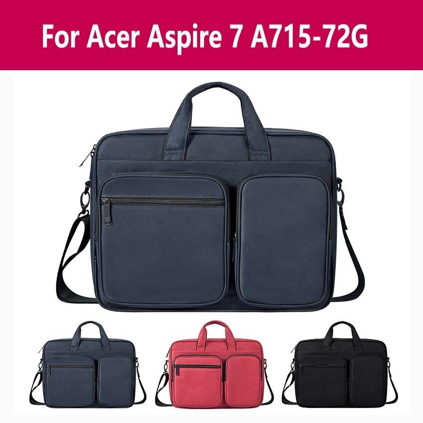 Bolsa para portátil de piel sintética suave 13,3 15 funda impermeable funda para portátil para Acer Aspire 7 A715-72g