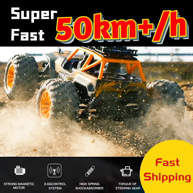 RC Car 50km/h High Speed Quality 4WD Racing Truck Cars Crawler Big Foot Off Road 2.4G Remote Control