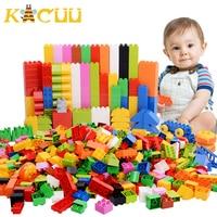 68-272PCS Big Size Building Blocks Colorful Bulk DIY Bricks With Figure Accessories Toys for Children Gift