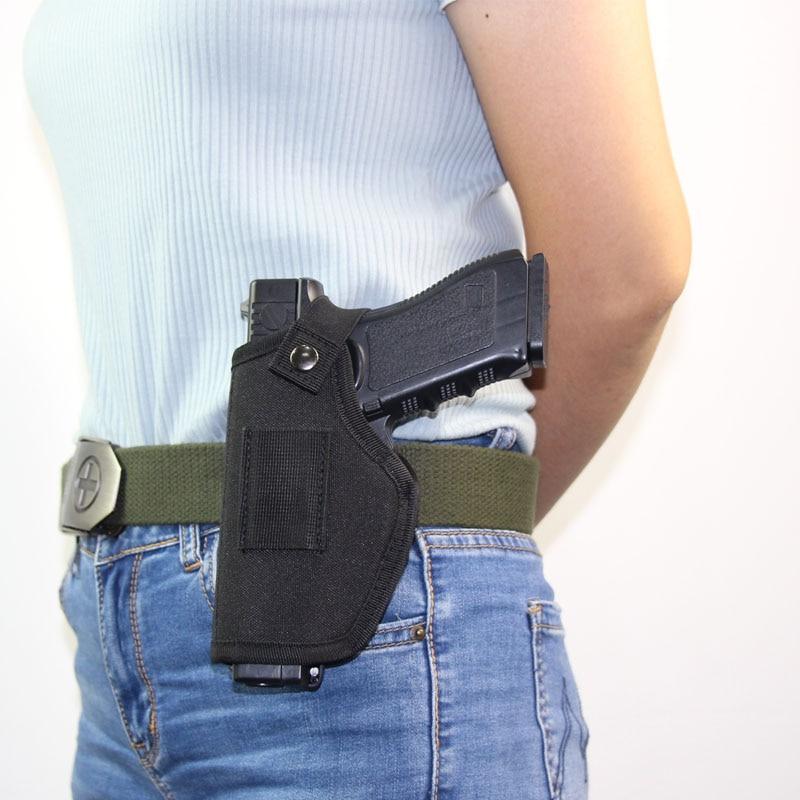 Tactical Left Right Hand Gun Holster for Glock 17 19 Beretta M92 Universal Airsoft Pistol Case Waist Holster Hunting Accessories