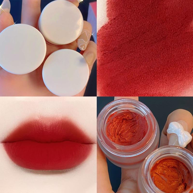 Custom Logo Mousse Lip Cream Nude Lip Gloss Lasting Moisturizing Non-marking Bite Lip Glaze Matte Waterproof Liquid Lipstick