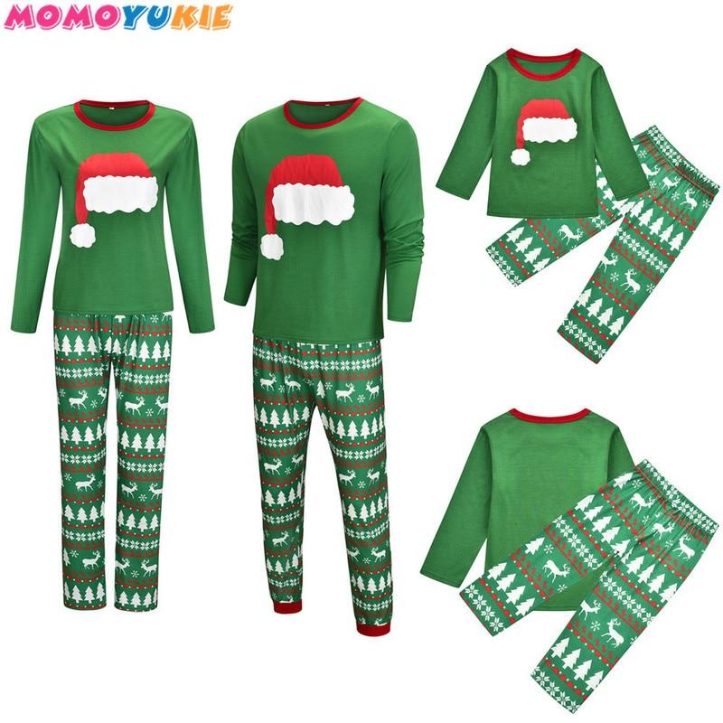 Family Christmas Pajamas Set Family Matching Clothes 2020 Xmas Clothes Adult Kids Pajamas Set Baby R