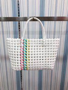 Luxury Brand Designer Style Female Travel Beach Weave Bag Weave Handbag Women Bags Pvc Knitting Basket Casual Totes