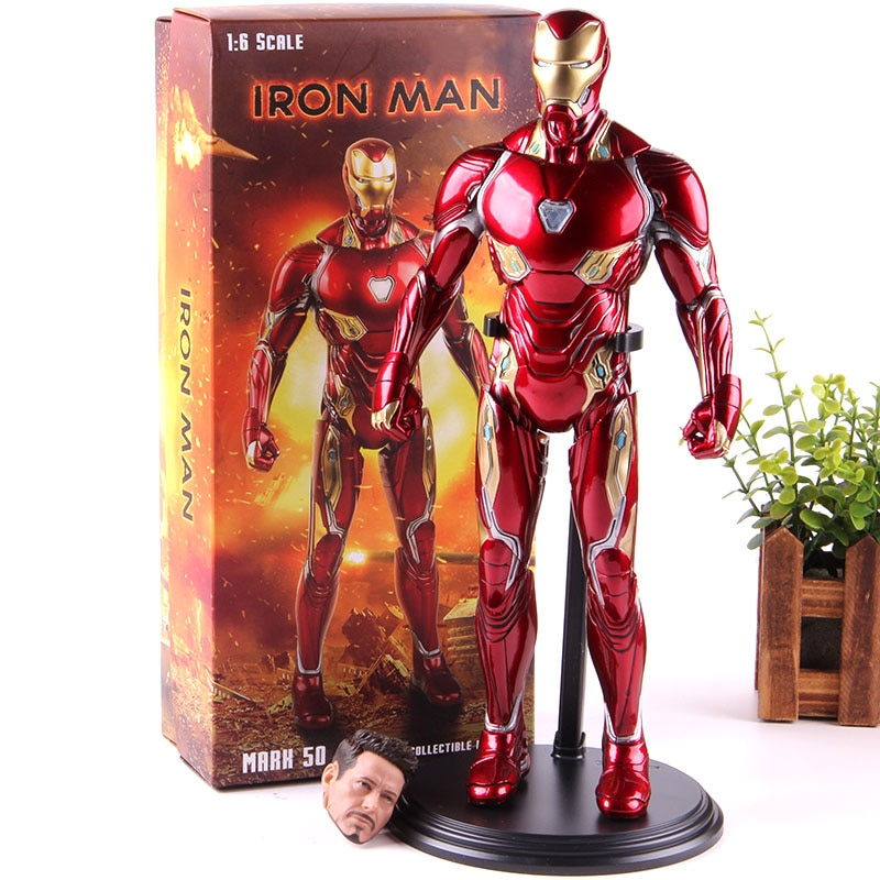 Marvel vengadores Infinity War MK50 figura de Iron Man Marvel Mark 50 figura de acción de hombre de hierro Ironman de PVC juguete de modelos coleccionables