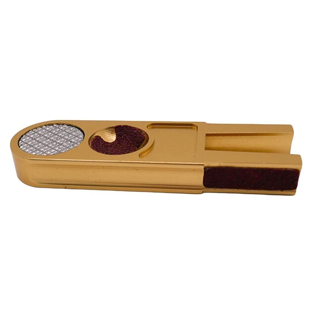 Multi-funcional en forma de U de billar punta para taco de billar Trimmers Tapper centavo níquel Shaper pulidora de accesorios y herramientas de reparación