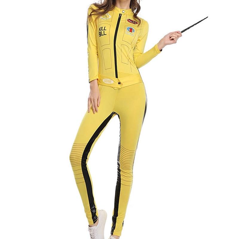 Kill Bill The Bride Beatrix Kiddo Cosplay Costume Kung Fu Jumpsuit for Women Halloween Carnival Mardi Gras Costumes