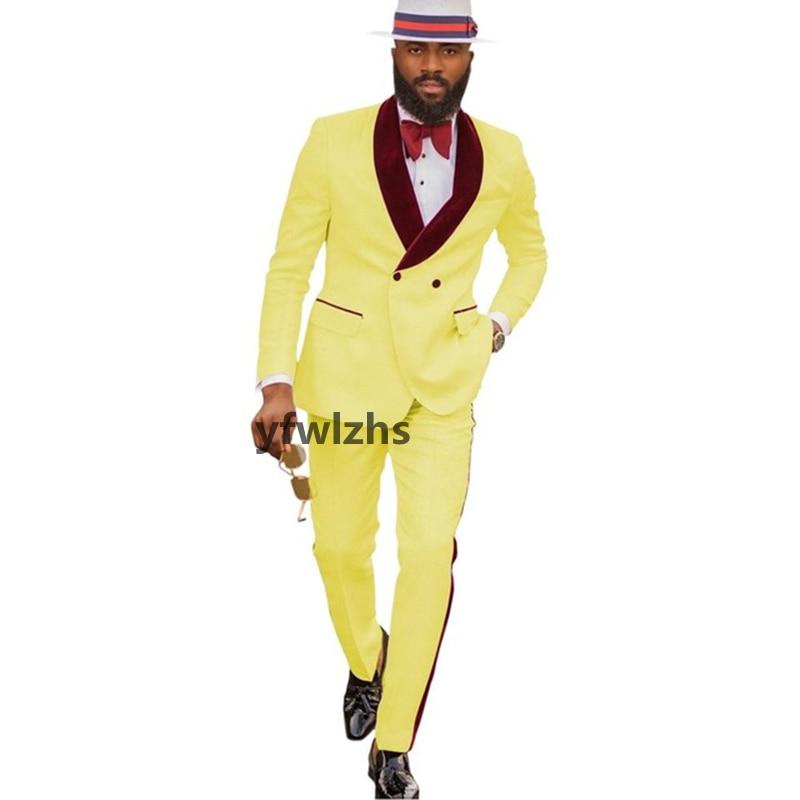 New Arrival Embossing Groomsmen Shawl Lapel Groom Tuxedos Men Suits Wedding/Prom Best Blazer ( Jacket+Pants+Tie) D13