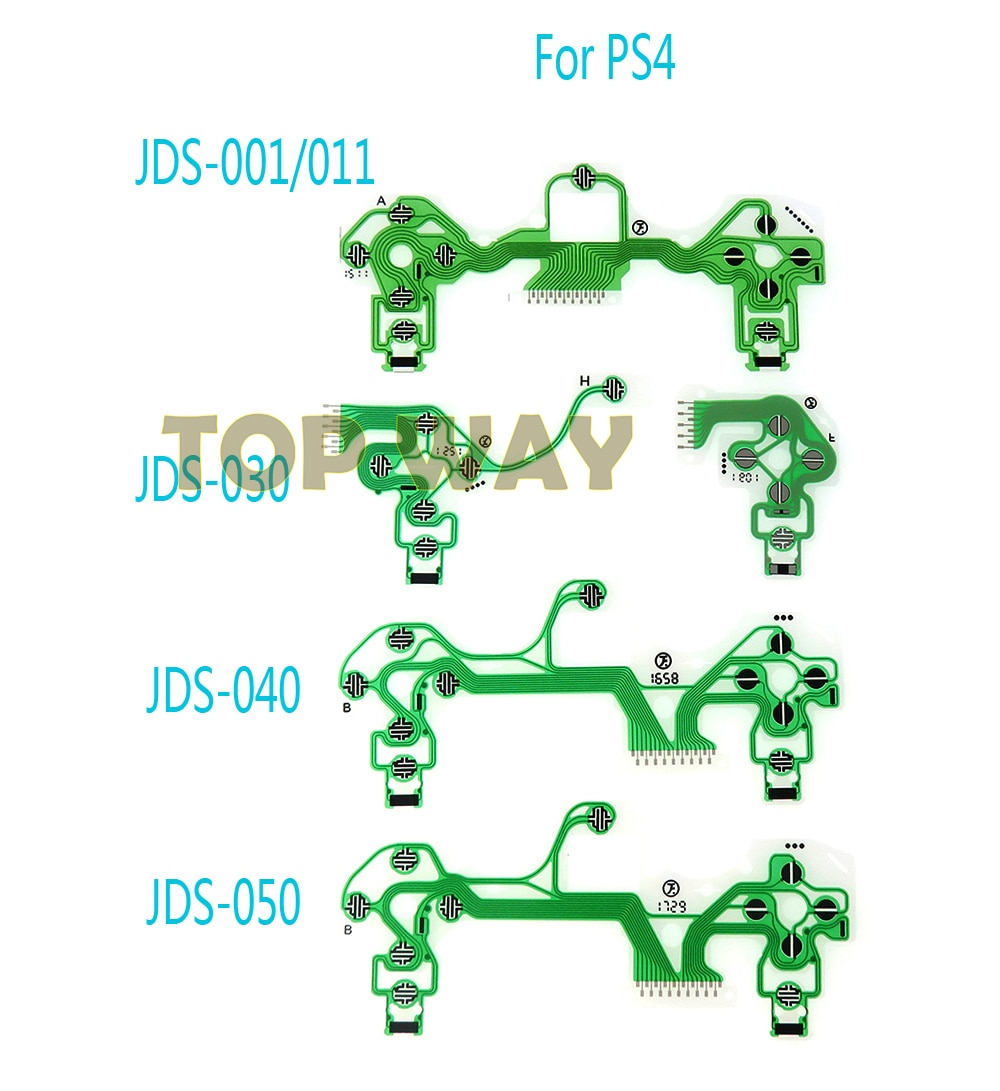200 قطعة جديد الأصلي ل بلاي ستيشن 4 PS4 برو سليم تحكم غشاء موصل لوحة المفاتيح الكابلات المرنة ل ps4 الشريط لوحة دوائر كهربائية JDS