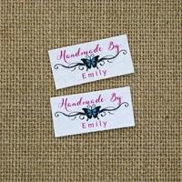 80 piece custom logo labels name iron on label custom clothing tags organic cotton labelsyt115