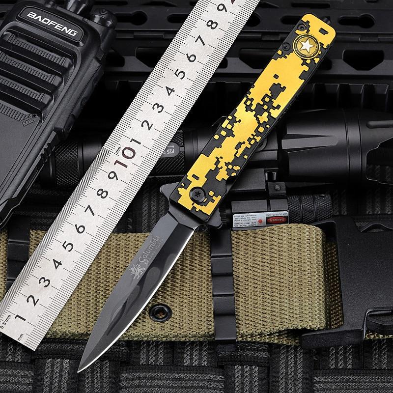 Outdoor High Hardness Portable Pocket Knife Portable Folding Knife Fruit Knife Survival Tool  Tactical Knife  Knives Folding