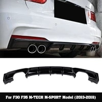 m p style pp material bumper rear diffuser for bmw 3 series f30 320 330
