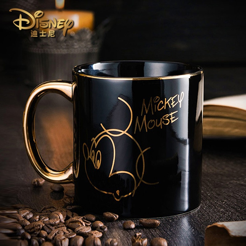 Disney authentic water cup fashion creative Mickey Minnie ceramic mug lovers cup gift to his girlfriend