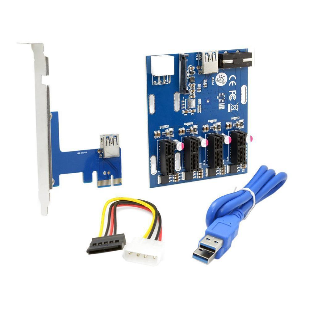 PCI-E To PCIe Adapter Card 1 To 4PCIE1X Expansion Card Ports Card Expansion Display 1 To One 4 Four 4 Lines Tow F9G2 enlarge