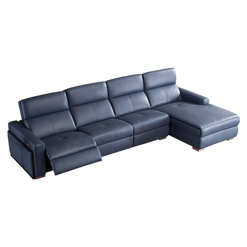 Sofá multiusos italiano moderno, sencillo, de cuero, para sala de estar, cápsula espacial de primera clase, sofá de cuero elástico eléctrico