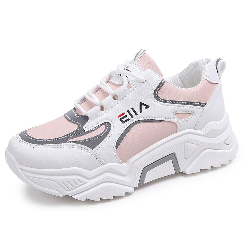 Zapatillas de deporte con plataforma transpirable para mujer, zapatos deportivos informales de...