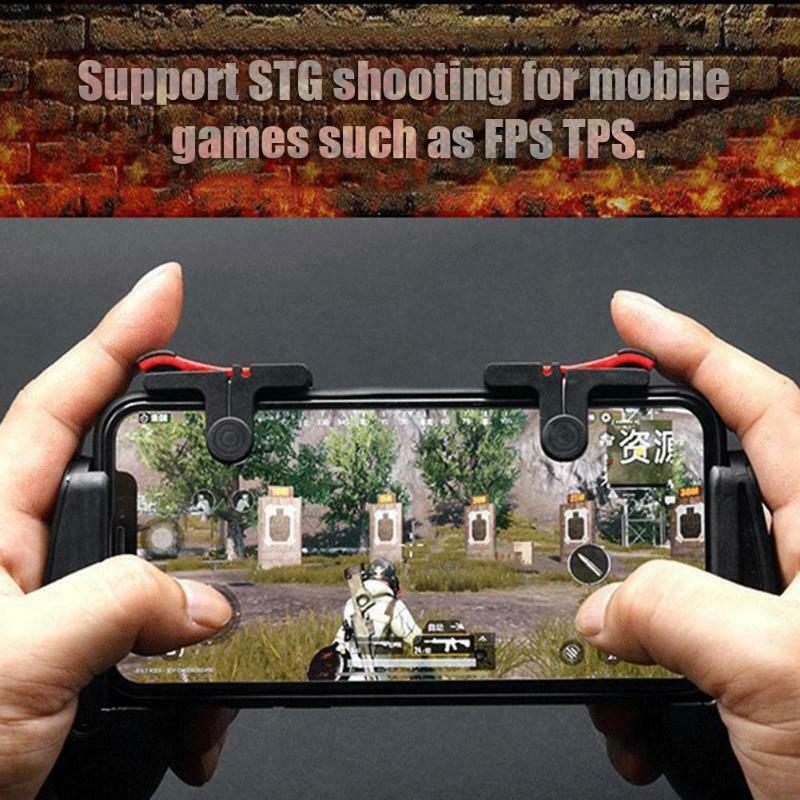 8 pçs do telefone móvel gaming trigger gamepad pubg botão punho para l1r1 shooter controlador keypads aperto para iphone android telefone