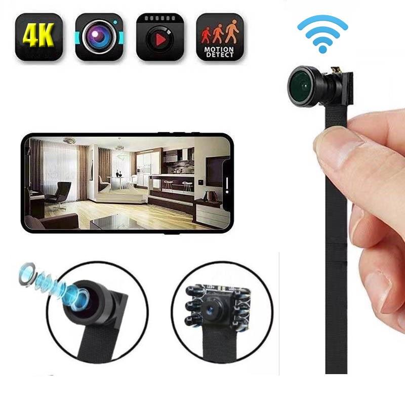 HD 4K لتقوم بها بنفسك المحمولة واي فاي IP كاميرا صغيرة للرؤية الليلية عرض عن بعد P2P اللاسلكية كاميرا ويب صغيرة مسجّل وكاميرا فيديو مسجل