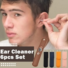 set Ear Wax Removal Tool Kit for Kids Ears Cleaner Children's Cleaning Ears Spoon Stainless Steel Ea