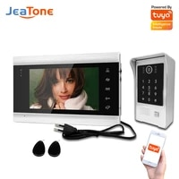 jeatone wifi video doorphone for home 960p video intercom with doorbell camera home access control system with passcode card