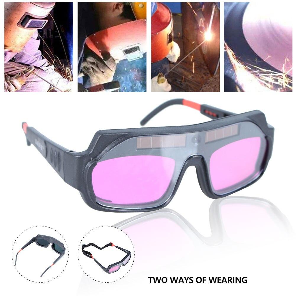 لحام النظارات الشمسية التلقائي يعتم حماية العين السيارات سواد عيون قناع لحام مكافحة وهج نظارات السلامة الشمسية