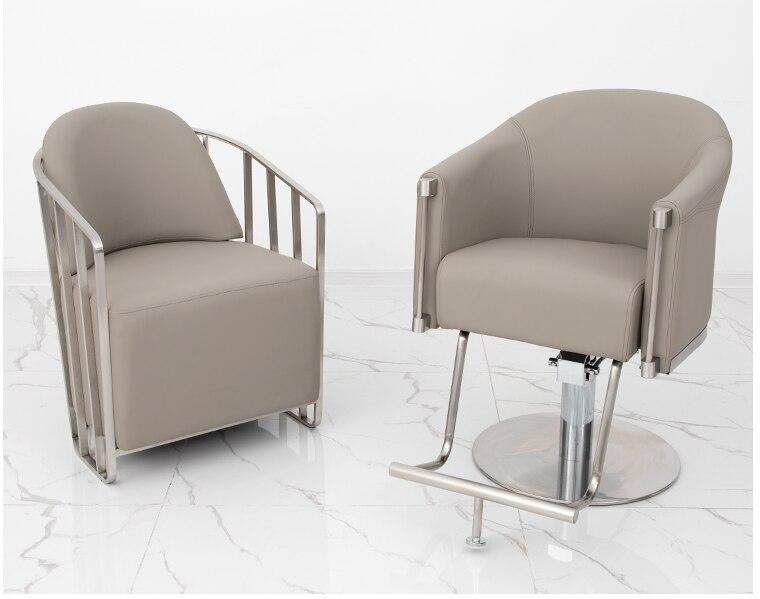 High-end hairdresser's chair, barber chair, modern minimalist salon, special high-end hair cutting chair, hair dyeing waiting ch