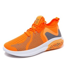 Autumn Men's Breathable Casual Flying Knit Sneakers Lightweight Couple Running Shoes Wearable  Zapat