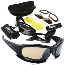 Daisy Tactical Polarized Glasses Military Goggles Army Sunglasses with 4 Lens Original Box Men Shoot