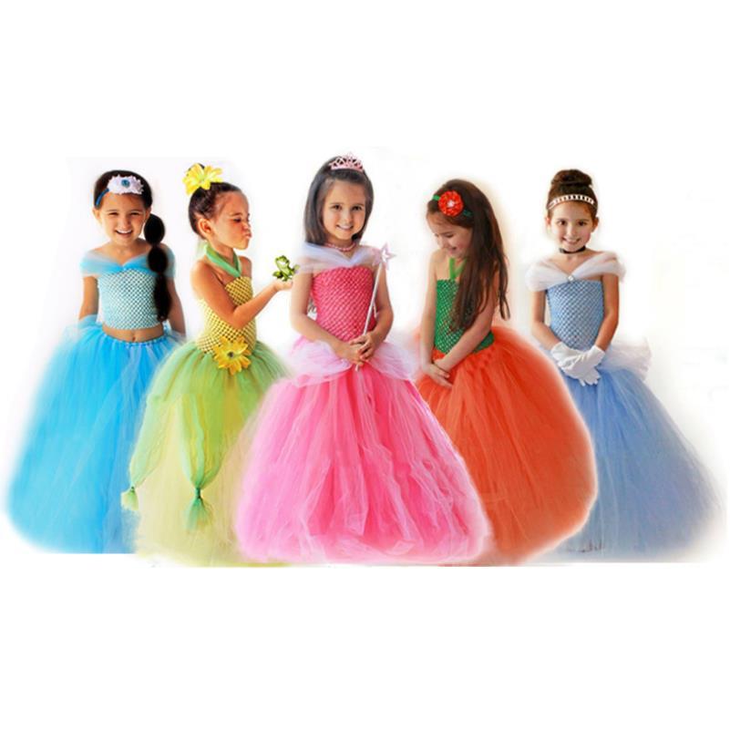 2019 vestido de tutú para niñas vestido de princesa Elsa bella vestidos de fiesta para niñas vestidos de desfile para bebés y niños disfraz de La Bella y La Bestia