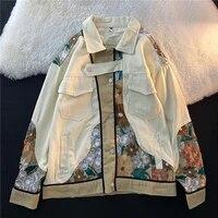 korean chic streetwear embroidery women jackets vintage harajuku ulzzang oversize jacket japanese button female coats
