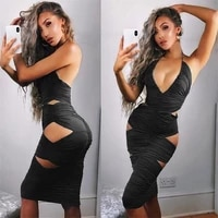 new design women night club dress sexy hollow out long dress halter europe and america style dress 4 colors 4 size
