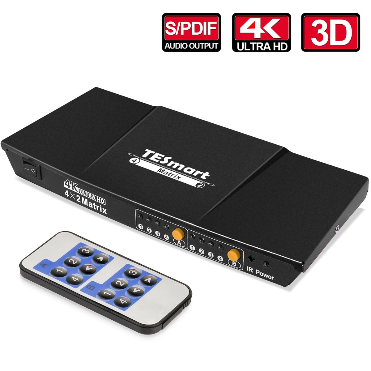 HDMI Matrix High Quality 1080P 2K 4K 3D Selector Switch Switcher Splitter with Analog Stereo(SPDIF)