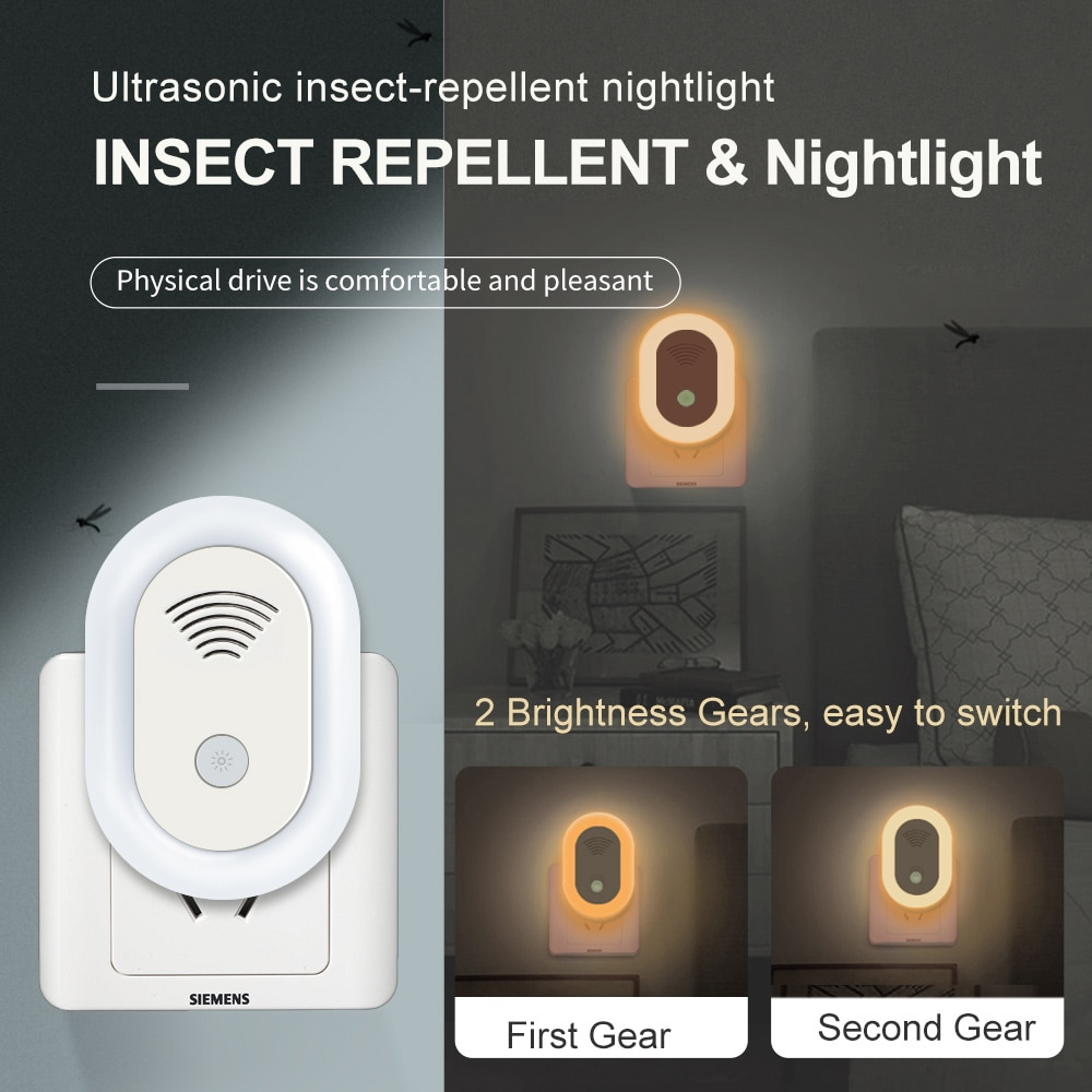 Ultrasonic Mosquito Repellent Lamp Anti Mosquito Bedroom LED Night Light Electronic USB Mosquito Killer Lamp For Bedroom Home