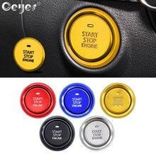 Ceyes 1 pieza de accesorios Adhesivos para coche anillo motor parada interruptor translúcido cubierta para Mazda 3 Axela 2020 Auto estilismo