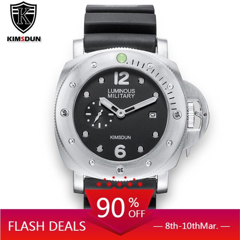 KIMSDUN®ساعات رجالية ، ساعة يد كوارتز فاخرة ، مقاومة للماء ، كرونوغراف رياضي ، مع شاشة مضيئة
