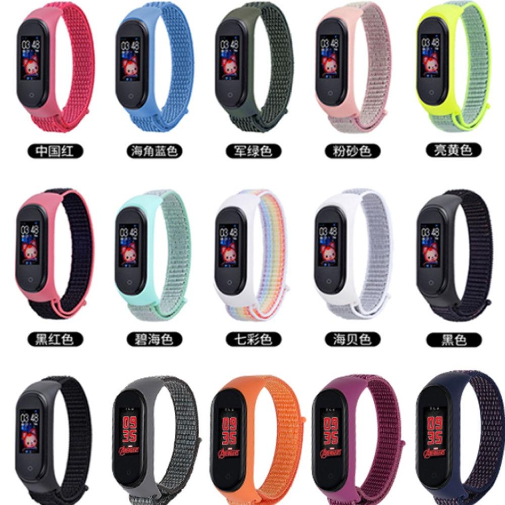 Correa de nailon para Xiaomi MiBand 5, muñequera para Mi Band 4 3, pulsera deportiva para smart watch Mi Band 5 4 3