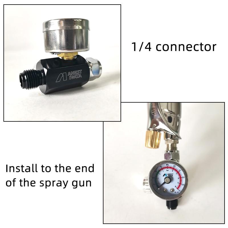 Anest  IWATA Spray Gun Special Pressure Regulator Air Pressure Regulator Valve Gun Tail Pressure Gauge General Air Inlet G1/4 enlarge