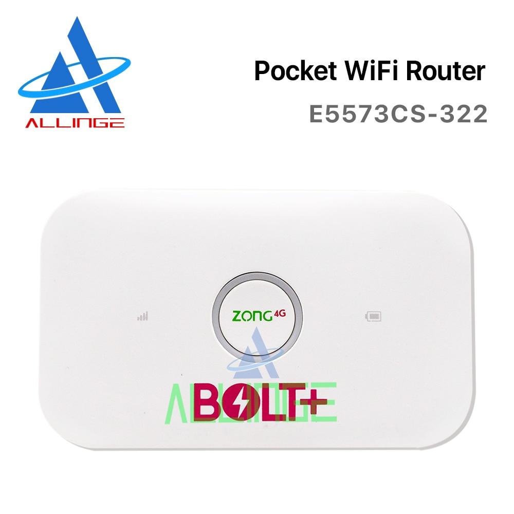 ALLINGE مقفلة راوتر لاسلكي E5573Cs-322 بولت 4G 3G LTE مشاركة صغيرة موزع إنترنت واي فاي جيب Mifi دعم مرحبا رابط في الهواء الطلق هوت سبوت