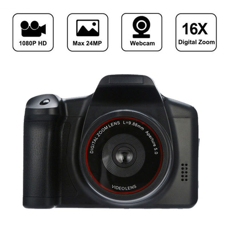Video Camera Camcorder With Microphone Speaker HD 1080P 24MP Cameras 16X Digital Zoom Camcorder TFT