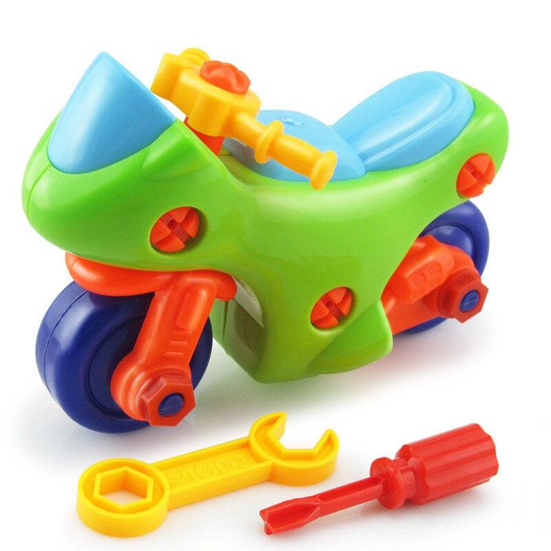 Conjunto de construcción de motocicletas con combinación extraíble DIY en 3D, juguetes de plástico para niños, Kits de modelos, juguetes educativos de regalo