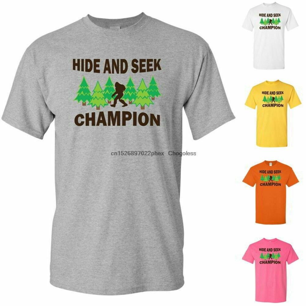 Bigfoot Sasquatch Verstoppertje Kampioen Grappige Jeugd Grafische T-shirts